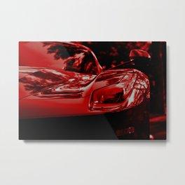 LaFerrari in Red Metal Print