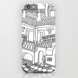 Beautiful Mediterranean Rooftop Escape iPhone Case