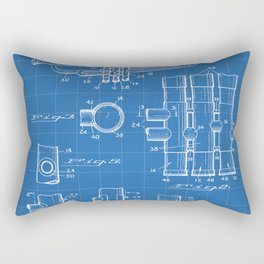 Selmer Trumpet Patent - Trumpet Art - Blueprint Rectangular Pillow