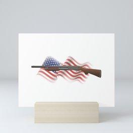 Pump-Action Shotgun Mini Art Print