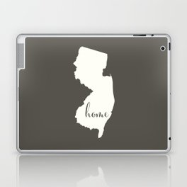 New Jersey is Home - White on Charcoal Laptop & iPad Skin