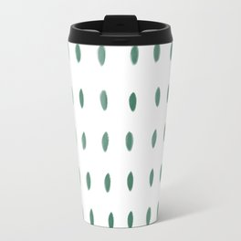 Paint Dabs in Green Travel Mug