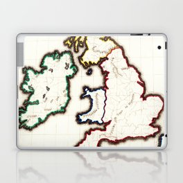 Vintage Map of The British Isles (1860) Laptop & iPad Skin