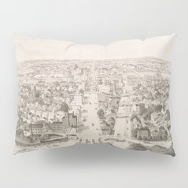 Vintage Pictorial Map of Rochester NY (1854) Pillow Sham