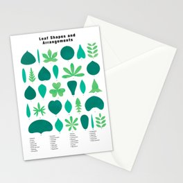 Leaf Shapes and Arrangements in Detail Stationery Cards