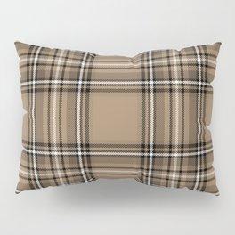 Coffee and Cream Tartan Pillow Sham