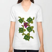 turtles V-neck T-shirts featuring Turtles  by MillennialBrake