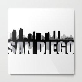 San Diego Silhouette Skyline Metal Print