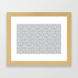 silver water drops Framed Art Print