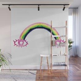 Boho Rainbow Love Eyes Wall Mural