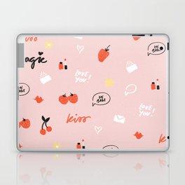 Girl In Love Pattern Laptop & iPad Skin