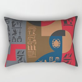 Egyptian Symbols Art Deco Composition #1 Rectangular Pillow