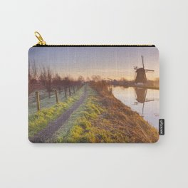 Traditional Dutch windmill near Abcoude, The Netherlands at sunrise Carry-All Pouch
