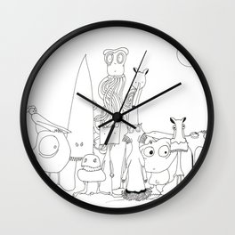 "THE CREW ""The invaders from Zxarcodol"" series Wall Clock"