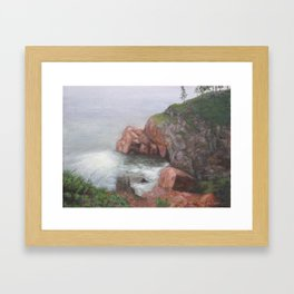 On the Cabot Trail, Cape Breton Island Framed Art Print