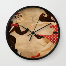 swing dance Wall Clock