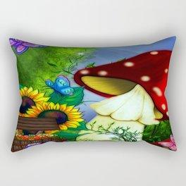 MuShroom Gully Fantasy Art Rectangular Pillow