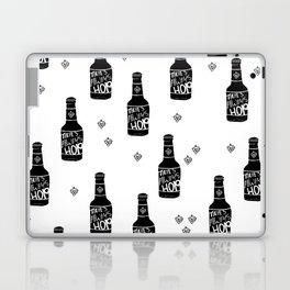 There's always hope beer bottle hop love monochrome Laptop & iPad Skin