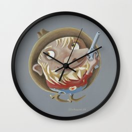 Sagittarius (grey) Wall Clock
