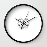 majora Wall Clocks featuring Majora by JJ Fry