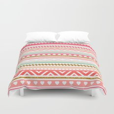 Aztec love Duvet Cover