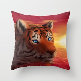 Sapphire eyes Throw Pillow