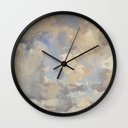 Clouds By John Singer Sargent Painting Wall Clock