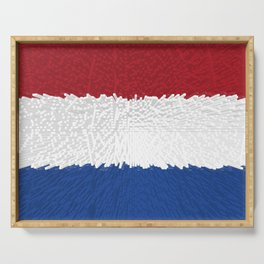 Extruded flag of the Netherlands Serving Tray