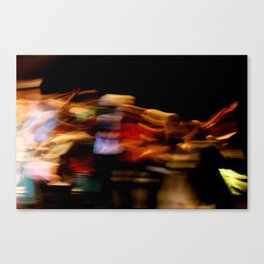 Make the lights dance and you'll never stop smiling Canvas Print
