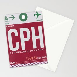 CPH Copenhagen Luggage Tag 2 Stationery Cards