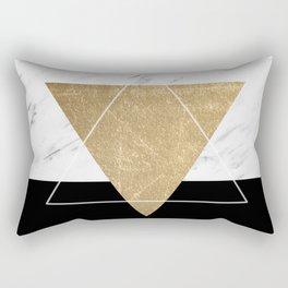 Golden marble deco geometric Rectangular Pillow