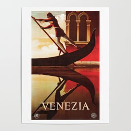 Vintage Venezia Italia Travel Poster