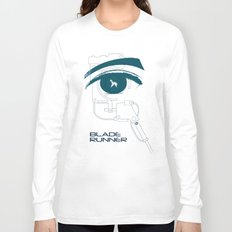 BLADE RUNNER (White - Voight Kampf Test Version) Long Sleeve T-shirt