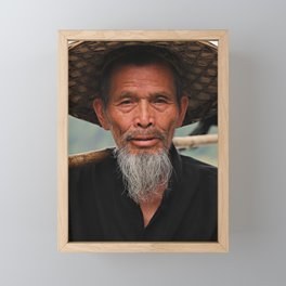 The Cormorant Fisherman | People of China Framed Mini Art Print