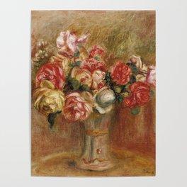 """Auguste Renoir """"Roses dans un vase de Sèvres"""" Poster"""