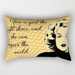 Put your shoes on! Rectangular Pillow