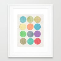 dots Framed Art Prints featuring dots by Mareike Böhmer