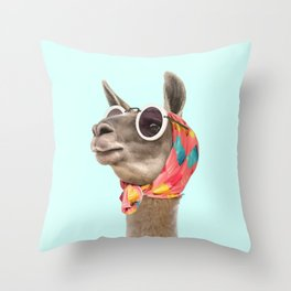 FASHION LAMA Throw Pillow