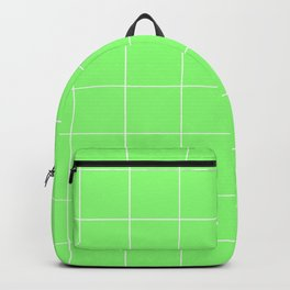 Graph Paper (White & Light Green Pattern) Backpack
