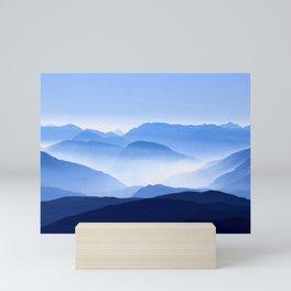 Blue Mountain Horizon Mini Art Print