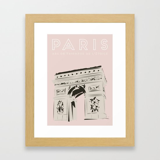 Paris Arc de Triomphe de l'Étoile Travel Poster by carrielymandesigns