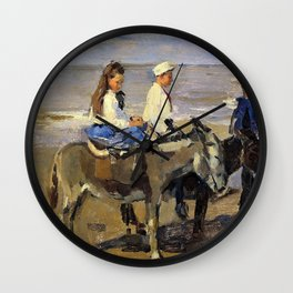 Two Donkeys - Digital Remastered Edition Wall Clock