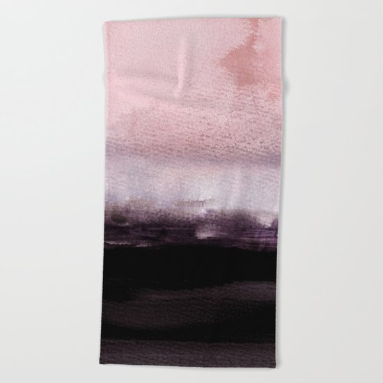 blush over purple Beach Towel