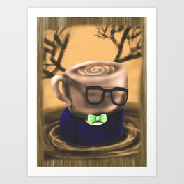 Coffee Bloke Tea Party Art Print