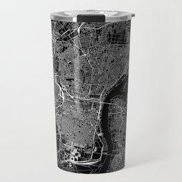 Philadelphia Black Map Travel Mug