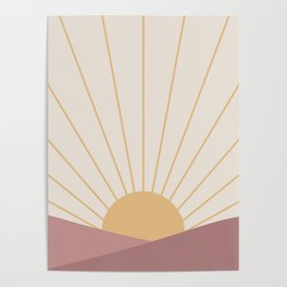 Morning Light - Pink Poster