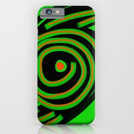 SPIN OUT SIXTY NINE green black orange  six nine disc turntable vinyl 69 Angelis iPhone Case
