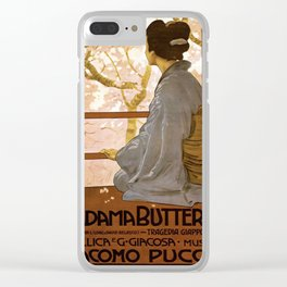 Vintage poster - Madama Butterfly Clear iPhone Case