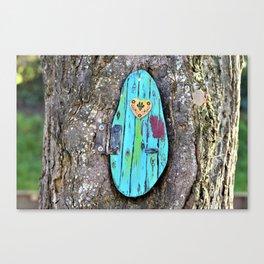 Tree door Canvas Print