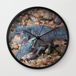 Blue Lobster Wall Clock